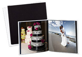 XL Square Photo Book, Hard Leather Cover