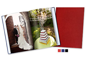 Large Portrait Photo Book, Hard Linen Cover