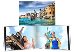 Medium Landscape Photo Book, Hard Picture Cover