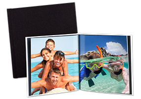 Medium Square Photo Book, Hard Linen Cover