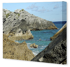 Small Landscape Mounted Canvas Print