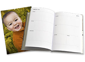 Personalised diary with photo cover image