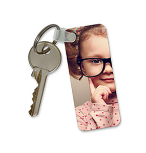 rectangular photo key ring
